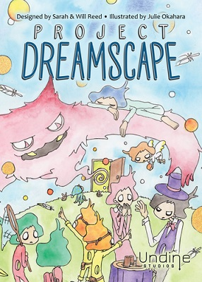 Project Dreamscape published by Undine Studios and designed by our very own co-host, Sarah Reed and her husband, Will Reed with artwork by Julie Okahara.