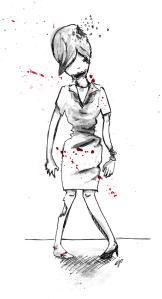 Dead Scare Art by Elizabeth Simins