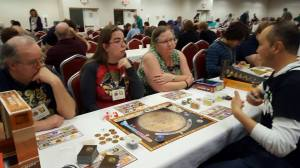 Jeremy & Frank playing Terraforming Mars at ConQuest Avalon 2016.