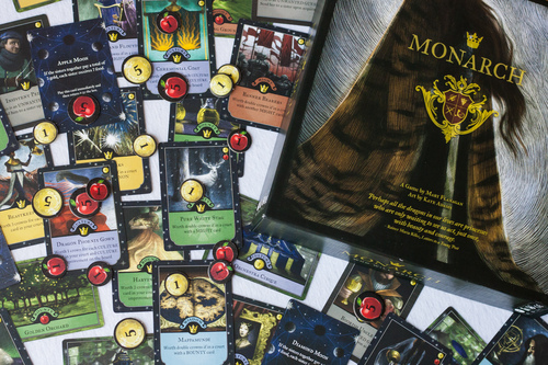 Monarch box and game components