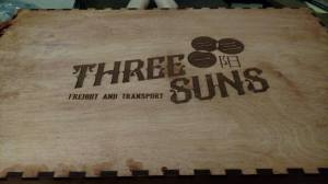 This is the box lid of the Big Damn Crate for Firefly. I stained it using a Cherry stain.