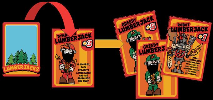 Each LUMBERJACK brings different reinforcements