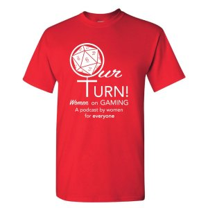 Our Turn Podcast T-Shirt in Red!