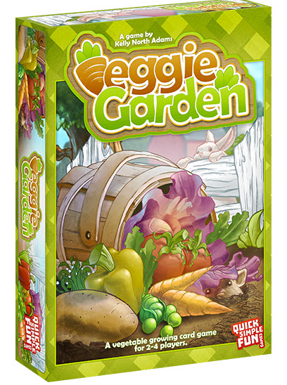 Veggie Garden is a fun and fast-paced game for 2-4 players, all of which are trying to grow the most vegetables in the shortest amount of time. But it won't be easy — other players will be fighting for space in the garden, along with the pesky Groundhog and mischievous Bunny popping up at every turn! So get your green thumbs ready and dive in to Veggie Garden!