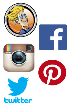 BoardGameGeek.com, Facebook.com, Instagram.com, Pinterest.com, Twitter.com